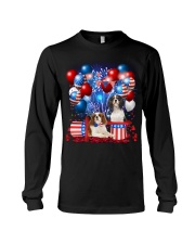 Cavalier King Charles Spaniel  Independence Vr2 Long Sleeve Tee thumbnail