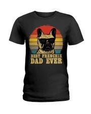 Best French Bulldog Dad Ever Vr4 Ladies T-Shirt thumbnail