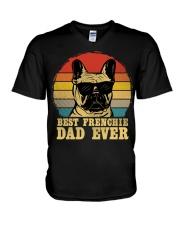 Best French Bulldog Dad Ever Vr4 V-Neck T-Shirt thumbnail