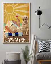 Golden Retriever And She Lived Happily Ever After 11x17 Poster lifestyle-poster-1