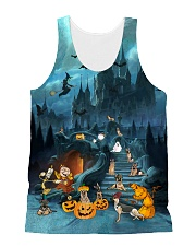 German Shepherd Halloween All-over Unisex Tank front