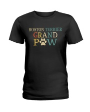 Boston Terrier Grandpaw Ladies T-Shirt tile