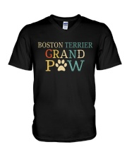 Boston Terrier Grandpaw V-Neck T-Shirt thumbnail