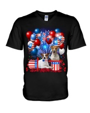 Jack Russell  Independence Vr2 V-Neck T-Shirt thumbnail