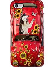 Phone Case - Husky Sunflower - Red Phone Case i-phone-7-case