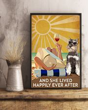 Miniature Schnau And She Lived Happily Ever After 11x17 Poster lifestyle-poster-3