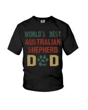 World's Best Australian Shepherd Dad Youth T-Shirt thumbnail