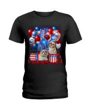 Shih Tzu  Independence Vr2 Ladies T-Shirt thumbnail