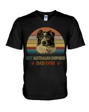 Best Australian Shepherd Dad Ever V-Neck T-Shirt thumbnail