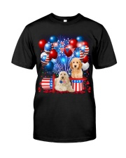 Goldendoodle  Independence Vr2 Classic T-Shirt front