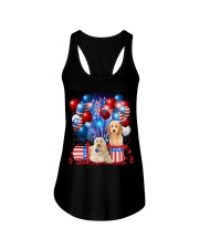 Goldendoodle  Independence Vr2 Ladies Flowy Tank thumbnail
