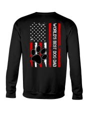 World's Best Dog Dad Flag Paw Dog Crewneck Sweatshirt thumbnail