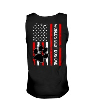 World's Best Dog Dad Flag Paw Dog Unisex Tank thumbnail