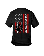 World's Best Dog Dad Flag Paw Dog Youth T-Shirt thumbnail