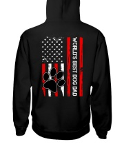 World's Best Dog Dad Flag Paw Dog Hooded Sweatshirt thumbnail
