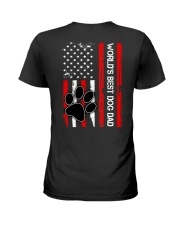 World's Best Dog Dad Flag Paw Dog Ladies T-Shirt thumbnail
