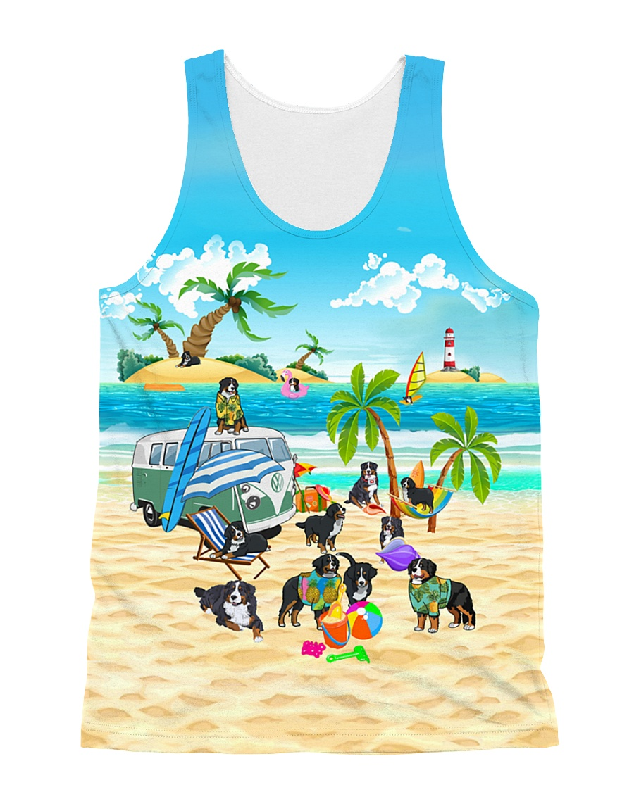 Bernese Mountain Dog Cute  All-over Unisex Tank