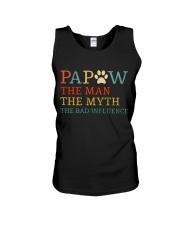 Papaw The Man The Myth The Bad Influence Unisex Tank thumbnail