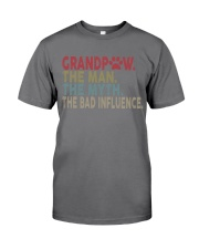 Grandpaw The Man The Myth The Bad Influence Vr2 Premium Fit Mens Tee thumbnail