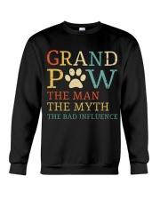 Grand Paw The Man The Myth The Bad Influence Crewneck Sweatshirt thumbnail
