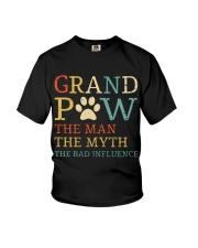 Grand Paw The Man The Myth The Bad Influence Youth T-Shirt thumbnail