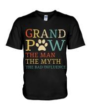 Grand Paw The Man The Myth The Bad Influence V-Neck T-Shirt thumbnail