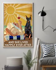 Doberman Pins And She Lived Happily Ever After 11x17 Poster lifestyle-poster-1