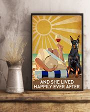 Doberman Pins And She Lived Happily Ever After 11x17 Poster lifestyle-poster-3