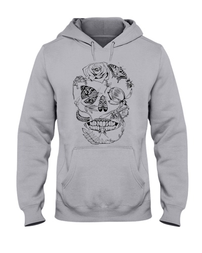 Skull Floral Insect Hoodie