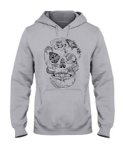 Skull Floral Insect line Hooded Sweatshirt tile