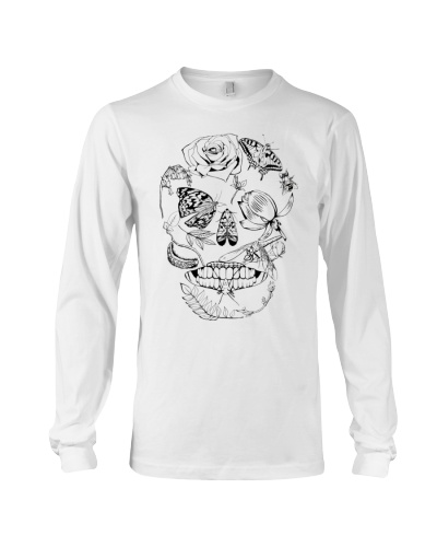 Skull Floral Insect line