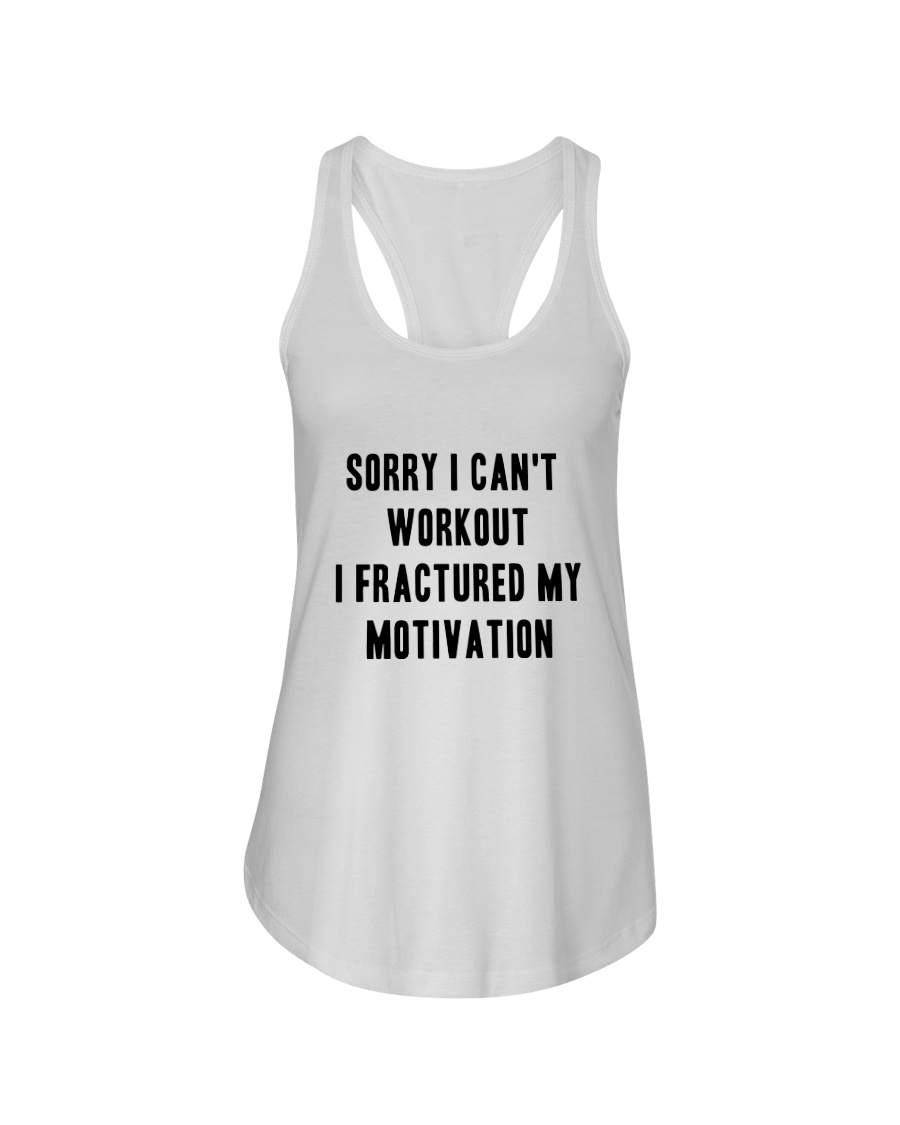 Sorry I Can't Workout Tee Ladies Flowy Tank