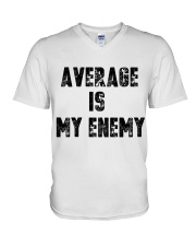 Average Is My Enemy V-Neck T-Shirt thumbnail