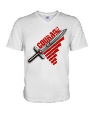 Courage t-shirt V-Neck T-Shirt thumbnail