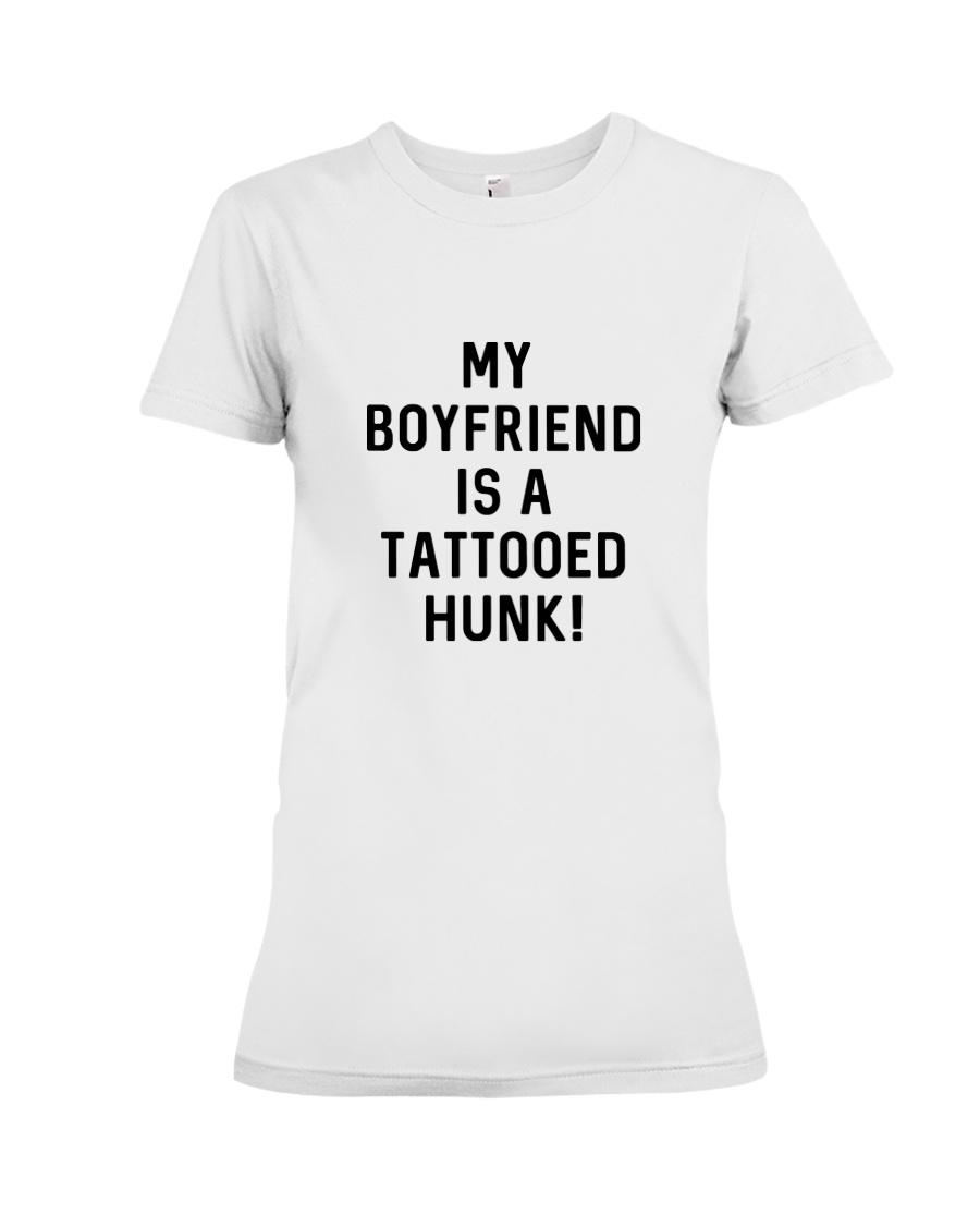 Tattooed Hunk T-shirt Premium Fit Ladies Tee