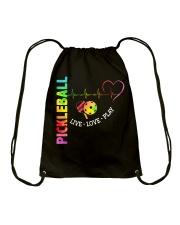 PICKLEBALL LIVE LOVE PLAY Drawstring Bag thumbnail