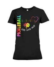 PICKLEBALL LIVE LOVE PLAY Premium Fit Ladies Tee thumbnail