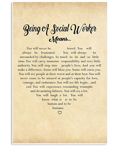 BEING A SOCIAL WORKER MEANS - POSTER