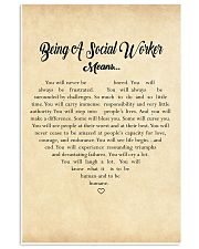 BEING A SOCIAL WORKER MEANS - POSTER 11x17 Poster front