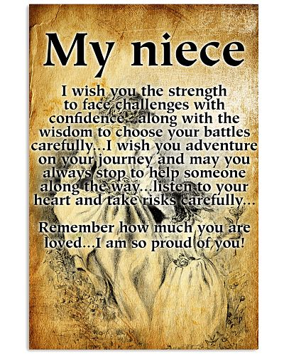 my niece - I WISH YOU THE STRENGTH POSTER