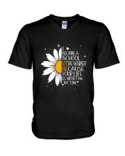 SCHOOL SOCIAL WORKER - I BECAME A POSTER V-Neck T-Shirt thumbnail