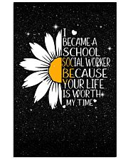 SCHOOL SOCIAL WORKER - I BECAME A POSTER 11x17 Poster front