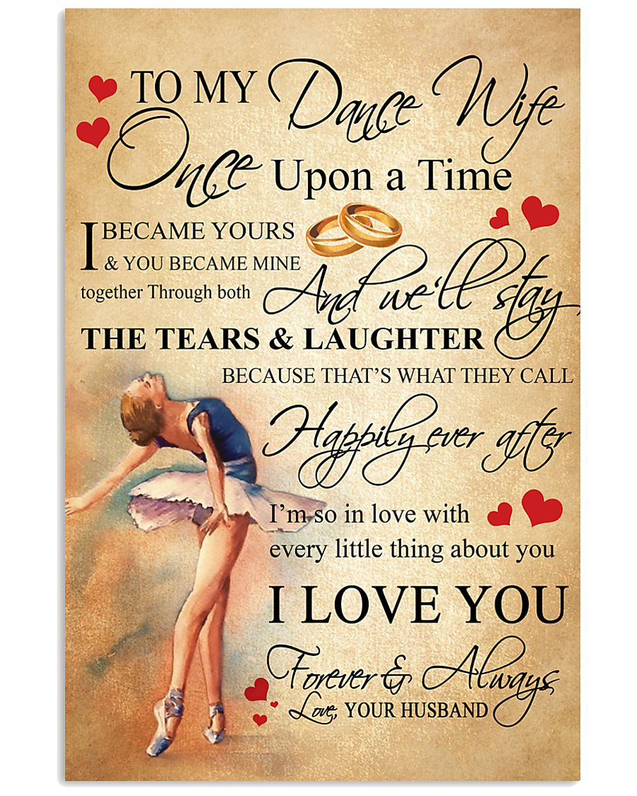 TO MY DANCE WIFE - ONCE UPON A TIME POSTER 11x17 Poster
