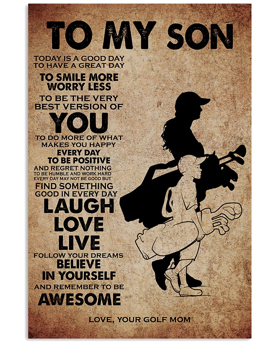 TO MY SON - YOUR GOLF MOM 11x17 Poster
