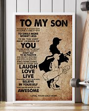 TO MY SON - YOUR GOLF MOM 11x17 Poster lifestyle-poster-4