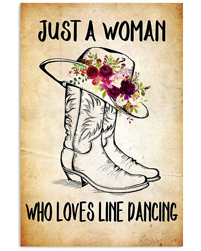 LINE DANCING - JUST A WOMAN POSTER