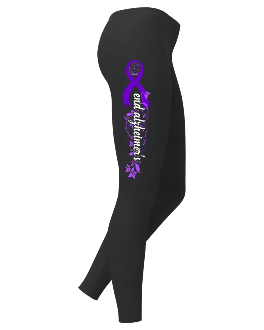 End Alzheimer's Flower Legging Ladies Leggings
