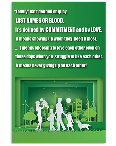 FAMILY POSTER GREEN PAPER