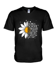 I BECAM A SCHOOL COUNSELOR V-Neck T-Shirt tile