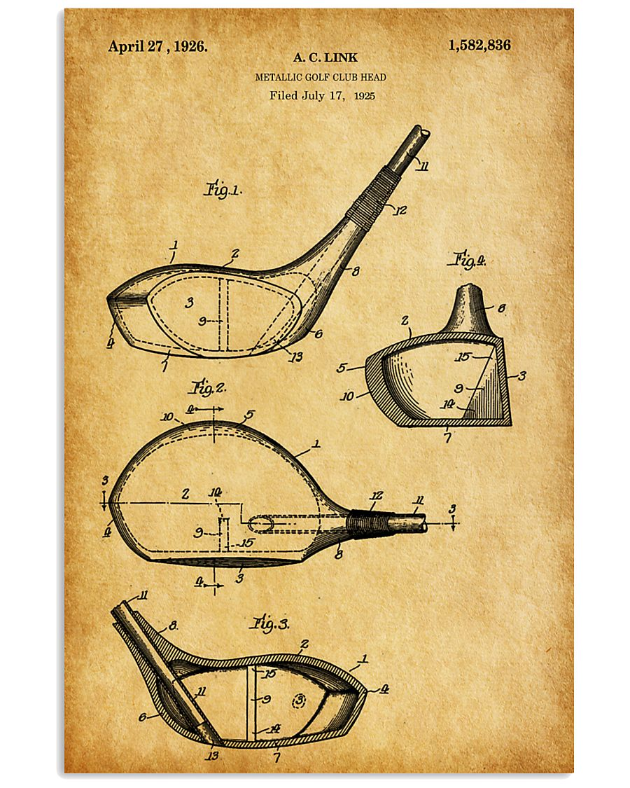 GOLF PATENT POSTER 11x17 Poster